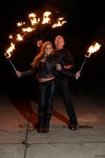 Feuershow mit David